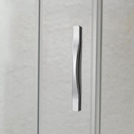 Cabine douche 70x80 Ouv Cristal Duo 2 Portes 80 CM 198 Opaque mod