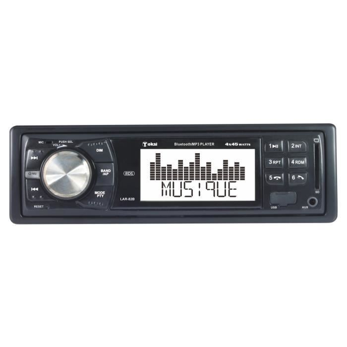 TOKAI Autoradio LAR-82B AM / FM RDS Bluetooth USB 4 x 45 W