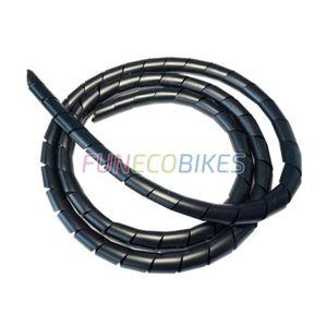 CÂBLE - FIL - GAINE Gaine spirale noir pour la protection des câbles é