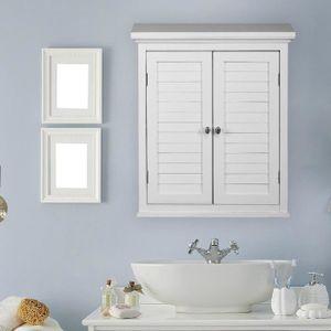 ARMOIRE DE TOILETTE Placard armoire mural blanc salles de bain Ethan T