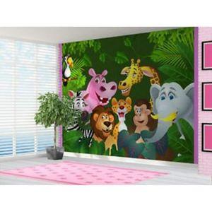 PAPIER PEINT cartoon jungle animals papier peint enfants cartoo