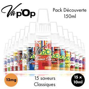 LIQUIDE ✕15 E-liquides Full Découverte-12mg/mL-10mL-Vap'Op