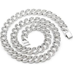 CHAINE DE COU SEULE Micro pave cristal collier en argent sterling chaî