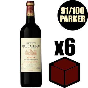VIN ROUGE X6 Château Maucaillou 2014 75 cl AOC Moulis Rouge