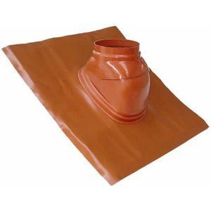 CHEMINÉE Solin plomb pour pente de 5 a 25° brun-orangé avec