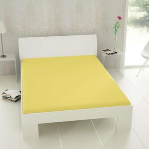 drap housse 160x200 jaune achat vente drap housse. Black Bedroom Furniture Sets. Home Design Ideas