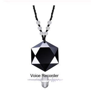 ENREGISTREUR Collier Enregistreur Vocal Audio Espion, 4Go Enreg