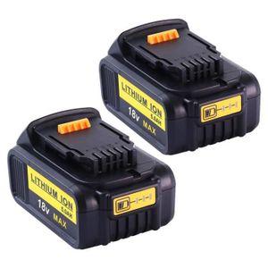 Jialikk 18V 5.0Ah Lithium-ion Batterie pour DeWalt XR DCB184 DCB200 DCB182 DCB180 DCB181 DCB182 DCB201 Outils Sans Fil