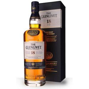 WHISKY BOURBON SCOTCH The Glenlivet 18 ans 70cl - Etui - Whisky Single M