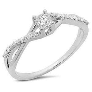 BAGUE - ANNEAU Bague Femme Diamants 0.20 ct  10 ct 471-1000 Or Bl