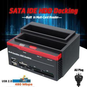 CÂBLE E-SATA T4W Lecteur de Carte External Dual SATA IDE HDD Ha