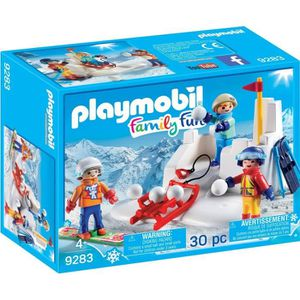 UNIVERS MINIATURE PLAYMOBIL 9283 - Family Fun - Enfants avec Boules