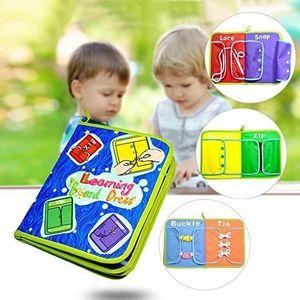 LIVRE INTERACTIF ENFANT Jouet Livre en Oxford Tissu Apprentissage Lacets Z