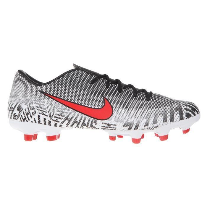 NIKE Chaussures de football Vapor 12 Academy Neymar JR FG et MG - Blanc