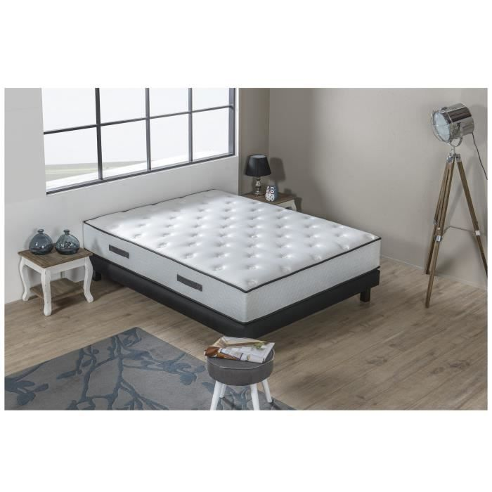 hotel prestige ensemble matelas sommier 160x200 cm ressorts ferme 540 ressorts ensach s. Black Bedroom Furniture Sets. Home Design Ideas
