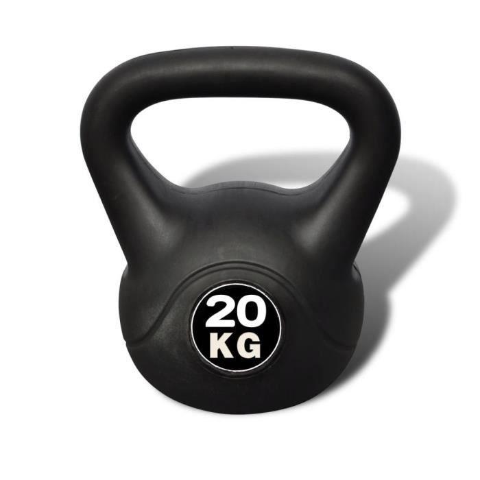 LAC Kettlebell de 20 kg 25 x 25 x 36 cm Poids libres