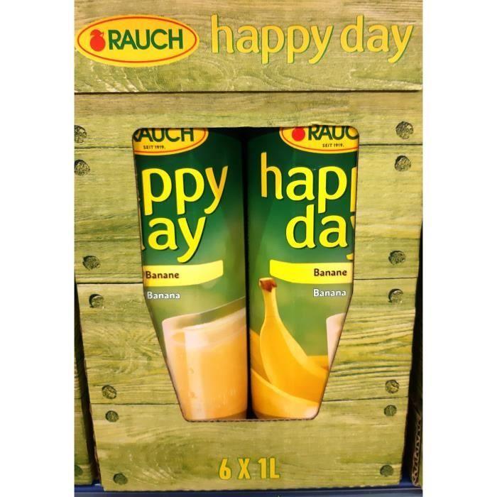 Rauch Happy Day banane jus de fruit 6 x 1l