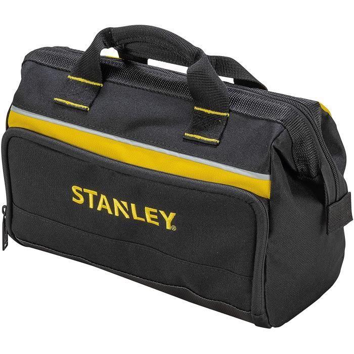 Stanley 1-93-330 Sac À Outils En Toile 600 Deniers - 8 Compartiments Int&eacuterieurs - Embase Renforc&eacutee - Poign&163