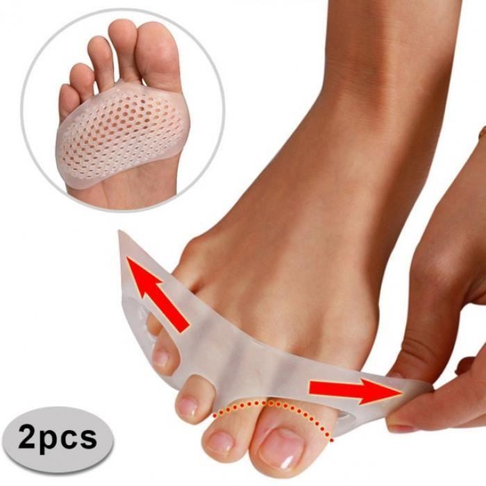 Massage Des Pieds Soins Tampons 1 Paire Orteil Avant-Pied Pad Souple En Silicone Respirant Anti-Douleur Séparateur Métatarsien