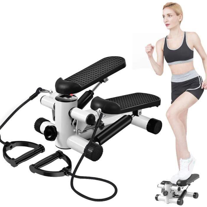 Fitness Stepper 2 en 1, Mini Stepper agrave Domicile, Up-Down Stepper 2 marches, Appareil d'entraicircnement Maison Bureau, Poids