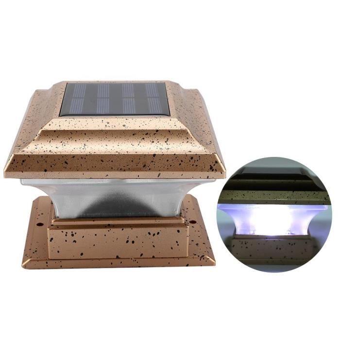 ARAMOX lampe de jardin Lampe de sécurité de jardin à énergie solaire extérieure étanche à la maison jardin poteau lumière de