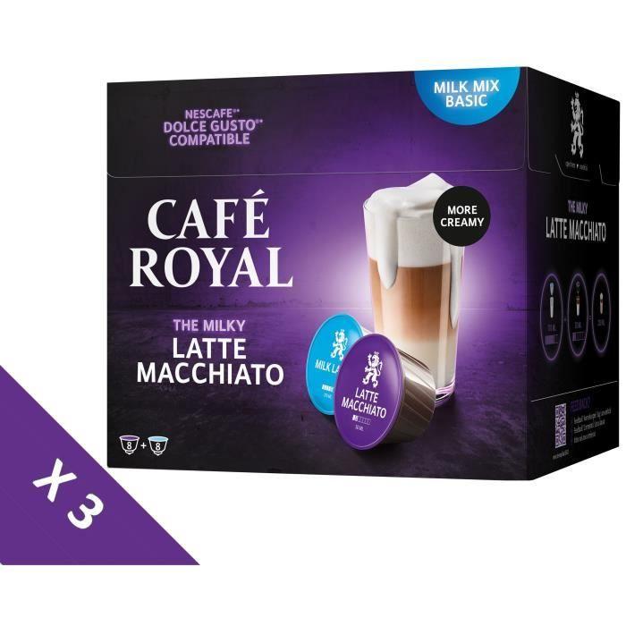[Lot de 3] CAFE ROYAL Café Compatible Dolce Gusto Latte Macchiato x16