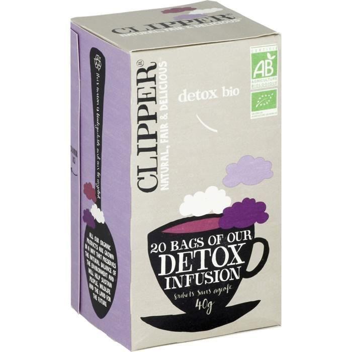 LOT DE 3 - CLIPPER® Détox Infusion hibiscus orties et réglisses bio - 20 sachets