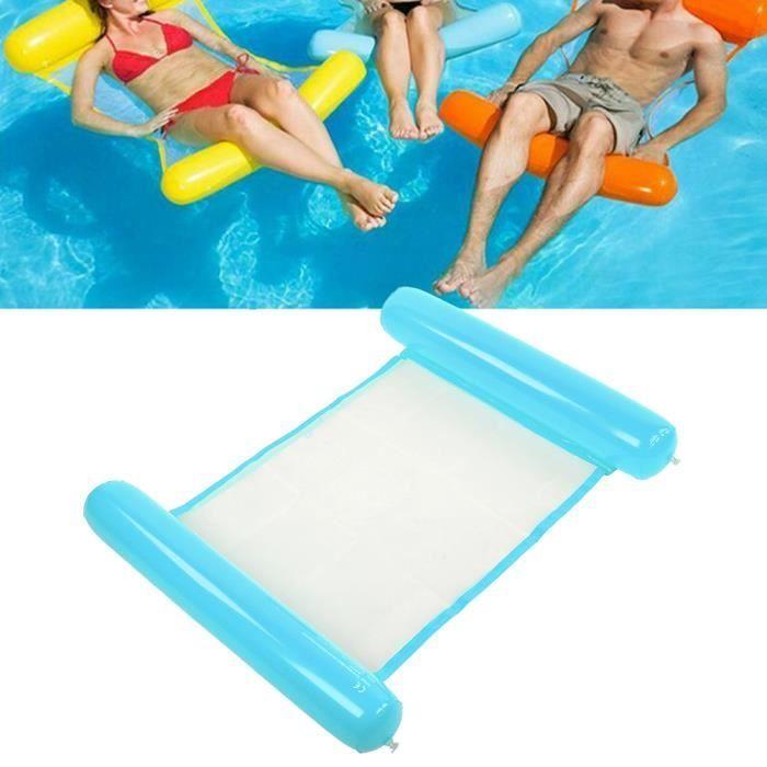 Gonflable Flottant Flotteur Lit Plus Grand Épaissi Portable Hamac D'eau Piscine Chaise Longue Photo D'été Femmes Hommes(Bleu )-REN