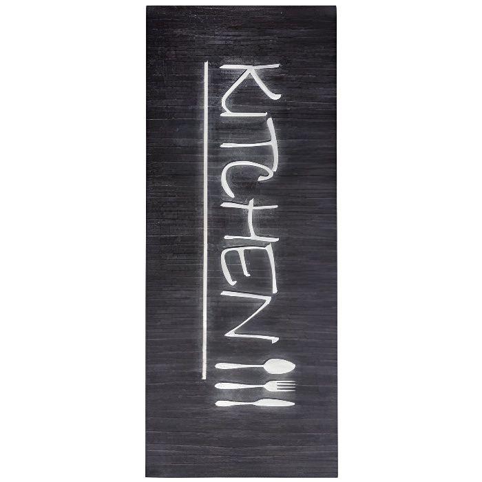 Tapis de cuisine KITCHEN Noir Dimensions - 50x120