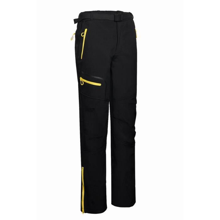 Homme Pantalon De Softshell Avec Poches Fermeture éclair Fonctionnelles Coupe Vent - Anti-UV - Respirant