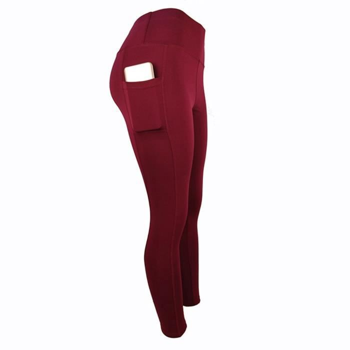 Pantalons Femmes Workout Out Pocket Leggings Fitness Sports Running Yoga Athletic Pants ZQA91227161WES_1234