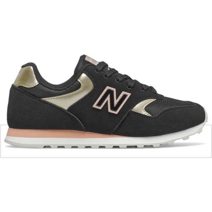 Chaussures de lifestyle femme New Balance 393 - black/light gold metallic - 40