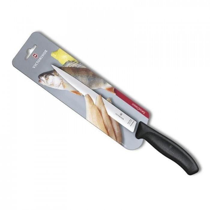 moderne cuisine couteaux a filets victorinox - 6.8713.20b - couteau filet sole victorinox swissclassic 20cm noir/carte