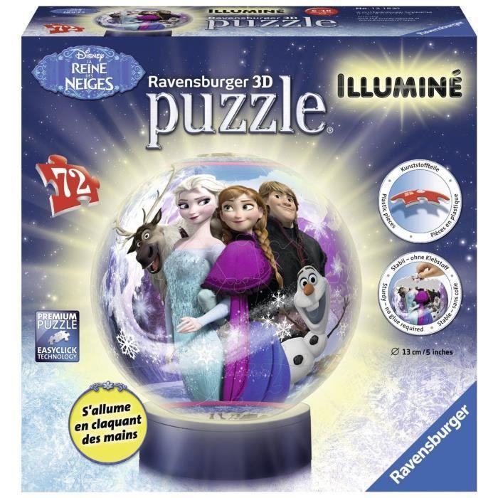 LA REINE DES NEIGES Puzzle 3D Illuminé 72 pcs - Disney