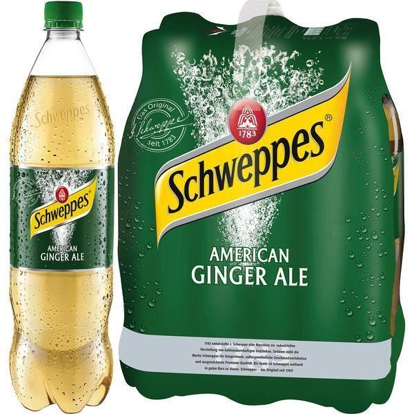 Schweppes American Ginger Ale 1,25l (Pack de 6)