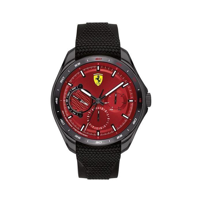 Scuderia Ferrari Homme Analogique Quartz Montre avec Bracelet en Silicone 0830682 78