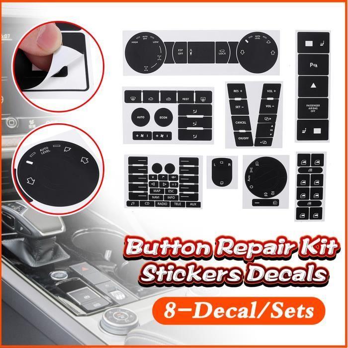 UK Autocollant Réparation de Bouton Sticker Pour Véhicule VW Volkswagen Touareg 2004–2009