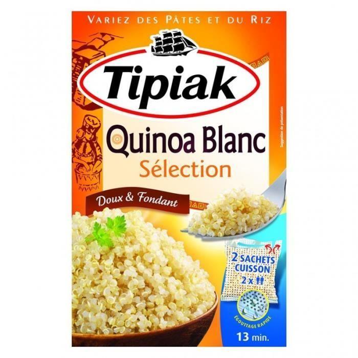 Tipiak Quinoa Blanc Sélection Doux & Fondant par 2 Sachet 240g (lot de 4)