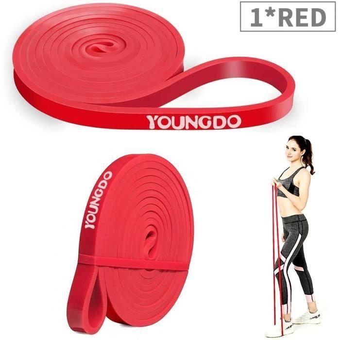Bande Élastique Fitness Sport Musculation Pilates Yoga Rouge