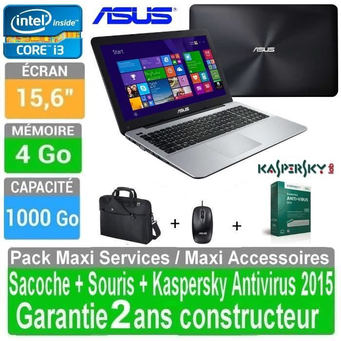 asus pc portable 15 6 core i3 4 go 1 to win 8 1. Black Bedroom Furniture Sets. Home Design Ideas