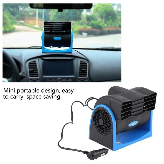 WINOMO Car Air Conditioner Voiture Refroidissement Air Fan 12/V Vitesse R/églable Refroidisseur pour Auto V/éhicule Camion avec Adaptateur Allume-Cigare
