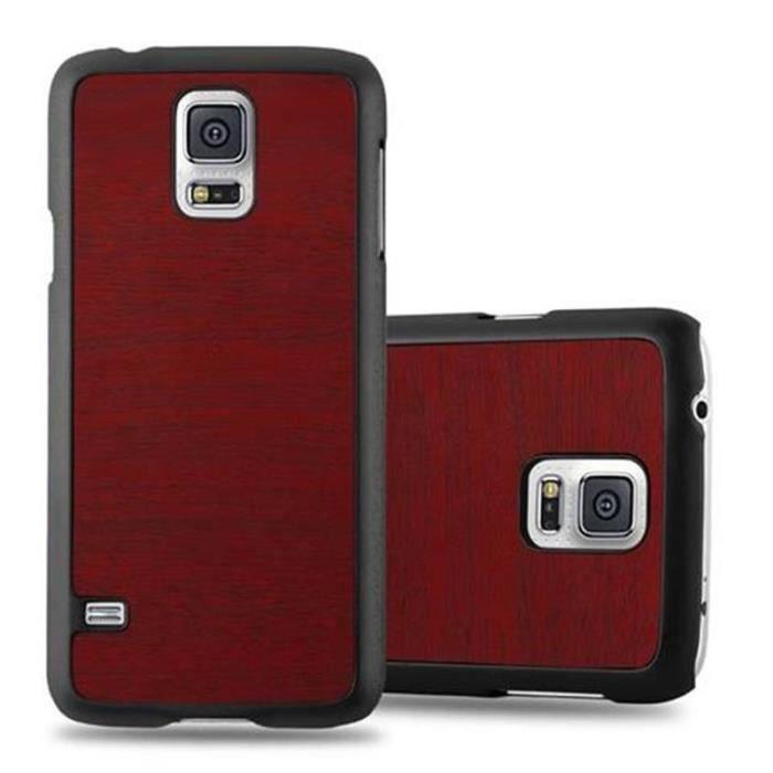 Coque Samsung Galaxy S5 - S5 NEO en WOODY ROUGE de