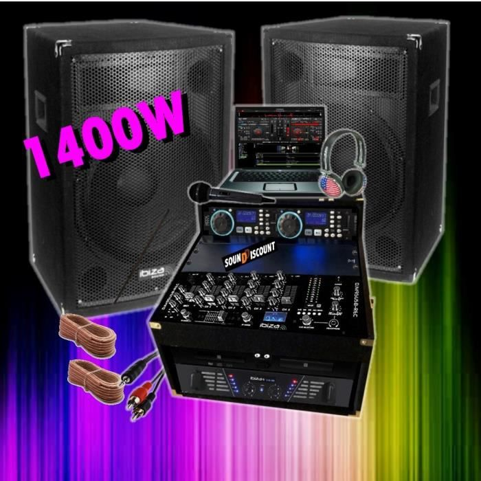 sono totale 1400w cd ampli enceinte mixage meuble pack sono prix pas cher cdiscount. Black Bedroom Furniture Sets. Home Design Ideas