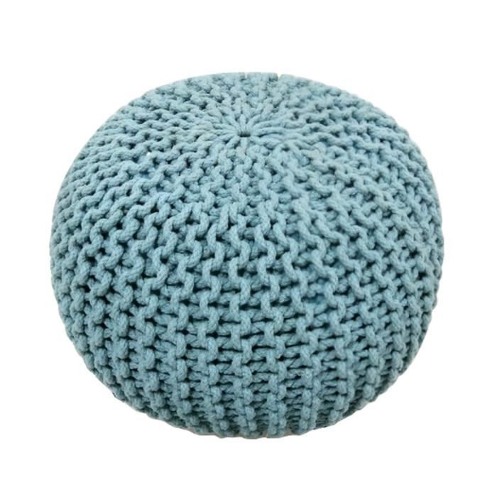 today pouf tricot waby sabi 100 coton 45xh30 cm bleu clair achat vente pouf poire 100. Black Bedroom Furniture Sets. Home Design Ideas