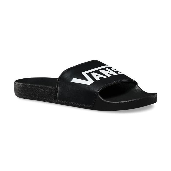 Sandale VANS Slide-On Noir Noir - Achat / Vente sandale - nu ...