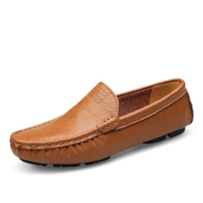homme chaussure en cuir ete occasionnelles Moccasin hommes Nouvelle Mode Ultra Confortable Loafer Grande Taille Moccasins 36-50 vMB2aMeCxM