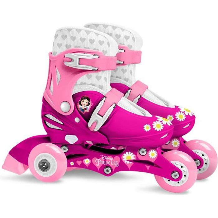 3 en 1 Rollers en ligne triskate patin /à roulette enfant fille Laguna Blanc//Turquoise r/églable ajustable