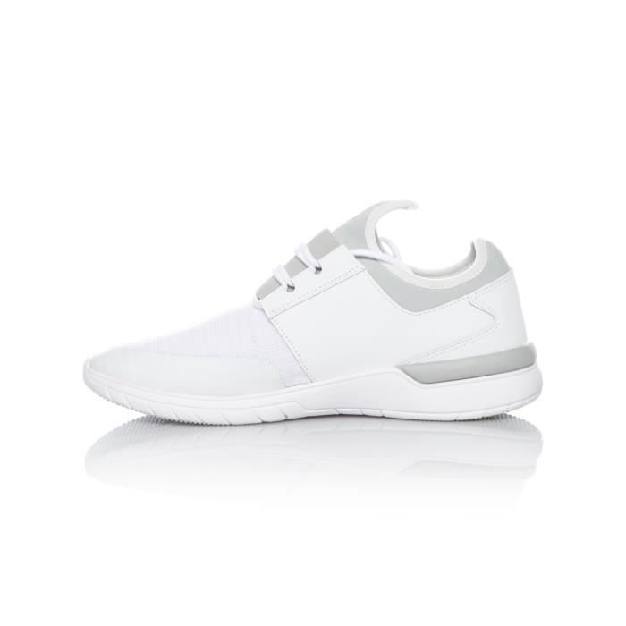 Chaussure Supra Flow Run Blanc-Light Gris