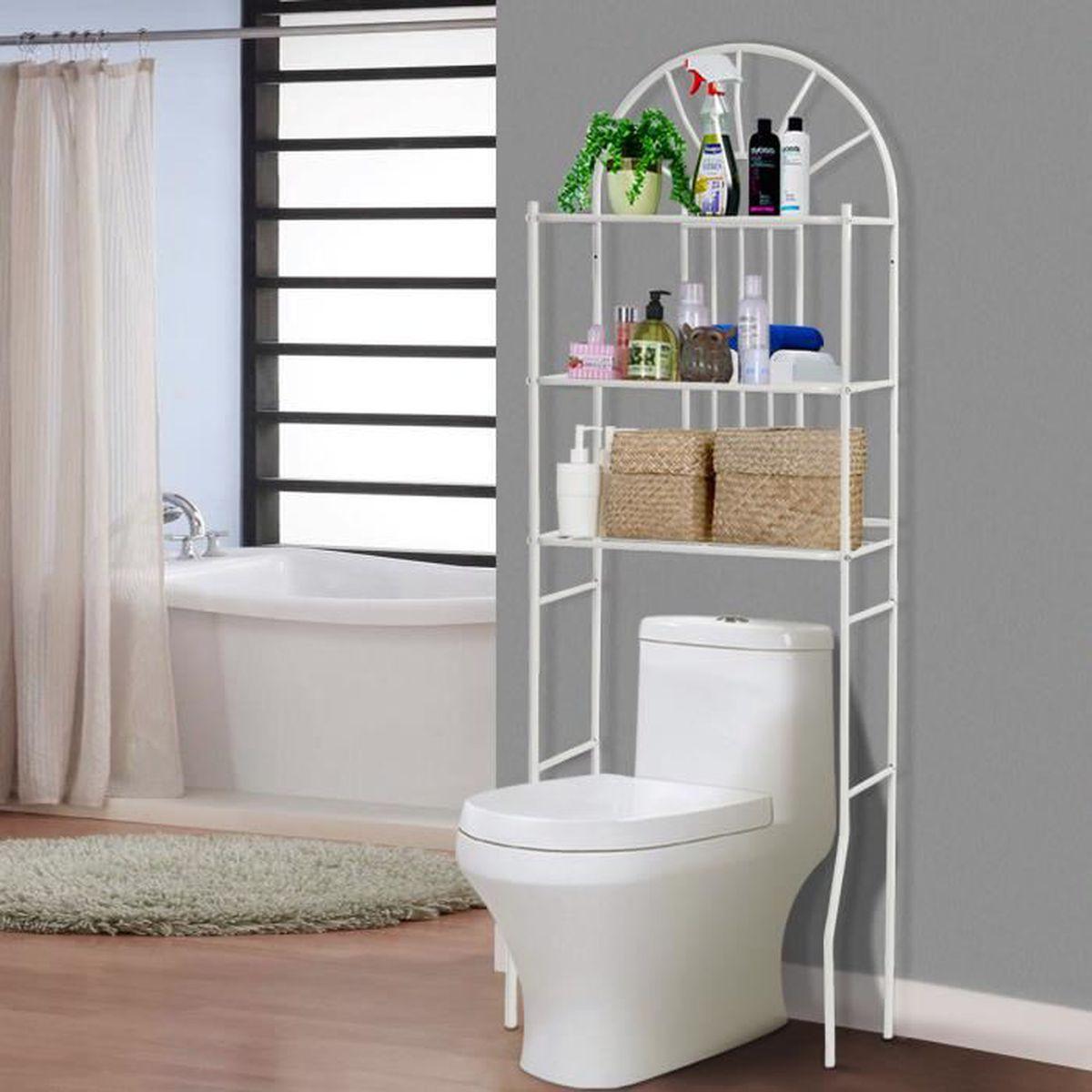 Meuble Salle De Bain Pour Machine A Laver costway meuble/etagère dessus toilettes/wc/machine à laver