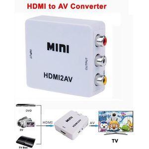 REPARTITEUR TV HDMI vers AV Composite RCA CVBS vidéo audio adapta